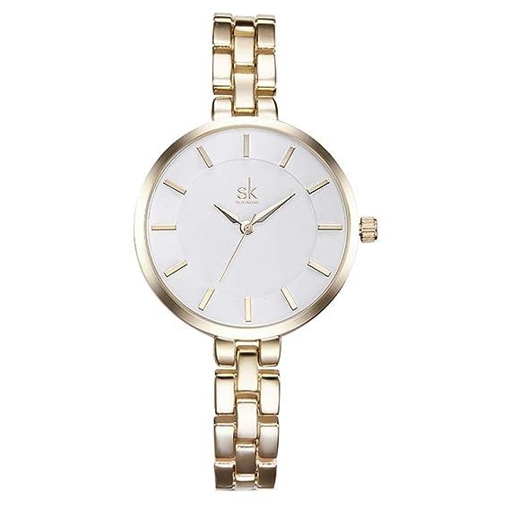 Relojes Mujer con Pulsera de Correa Fina, Escala del Clavo Relojes de Pulsera Elegante Moda