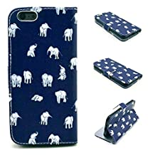 Iphone 6S Plus Case,Iphone 6 Plus Case, Kmety India Elephant Portrait Graphic Magnetic Snap Wallet Flip PU Leather With Stand Cover Case for Apple Iphone 6/6S Plus