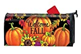 BYUII Welcome Fall Pumpkin Sunflowers Decorative Garden Mailbox Cover Magnetic Standard