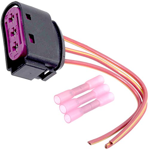 APDTY 133818 Wiring Harness Pigtail Connector Fits High Voltage Fuse Box Mounted On Battery On 1998-2006 VW Beetle 1999-2005 Jetta or Golf (Commonly Needed From A Melted Or Melting Fuse Box)