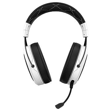 Auriculares para Juegos inalámbricos con Auriculares, Auriculares con micrófono estéreo Virtual DE 7.1 Canales para Juegos, Blanco: Amazon.es: Electrónica