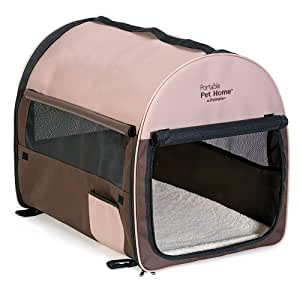 Petmate Portable Pet Home, Large, Dark Taupe/Coffee Grounds Brown