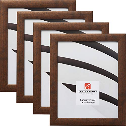 Craig Frames 23247881 8 x 10 Inch Picture Frame, Rustic Copper, Set of 4 ()