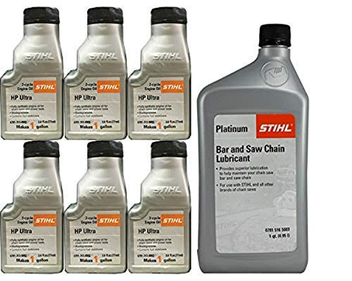 Stihl 0781-516-5003 Platinum Bar And Chain Oil And 0781-313-8002 HP Oil Kit by Stihl