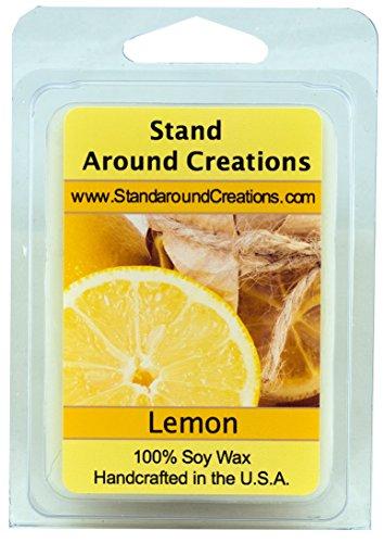 100% All Natural Soy Wax Melt Tart - Lemon - Fresh Lemons Sunny and Tart, Bursting with citrusy zing! - 3oz - Naturally Strong Scented