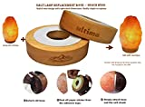 Salt Lamp Replacement Base. Beach Wood. Stunning new style to give your lamp a new look. Very convenient to replace.No screws required