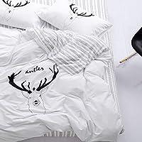 Trasign Twin Duvet Cover Set Kids Cotton Duvet Comforter Cover Striped