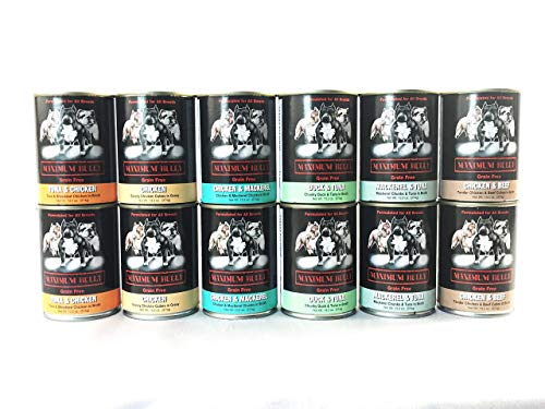 Maximum Bully Canned Dog Food-Made in USA Only Grain Free 12 Pack