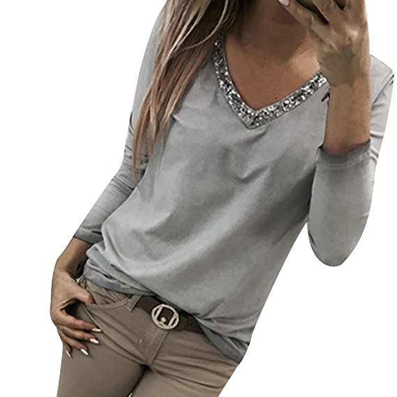 huge sale really cheap buying now Slim Vetement Femme Pas Cher a la Mode Mélange de Coton Tee ...