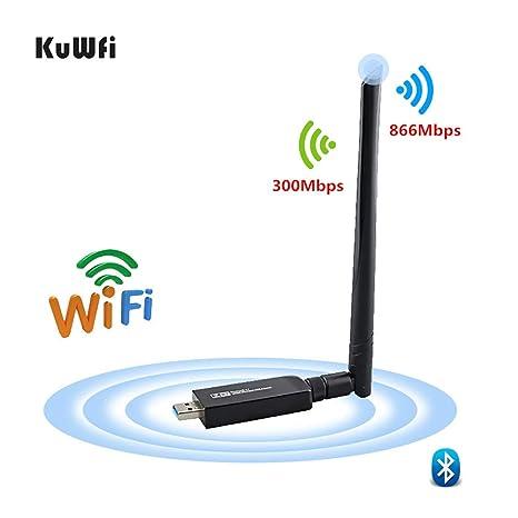 KuWFi Doble banda 802.11ac USB3.0 Tarjeta de red USB ...