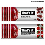 That's it. Mini Variety Pack 100% Natural Real Fruit Bar, Vegan, Gluten Free Healthy Snack, Paleo for Children & Adults, Non GMO Sugar-Free Allergen Friendly Kosher (Strawberry 5pack/Date 5pack) Review
