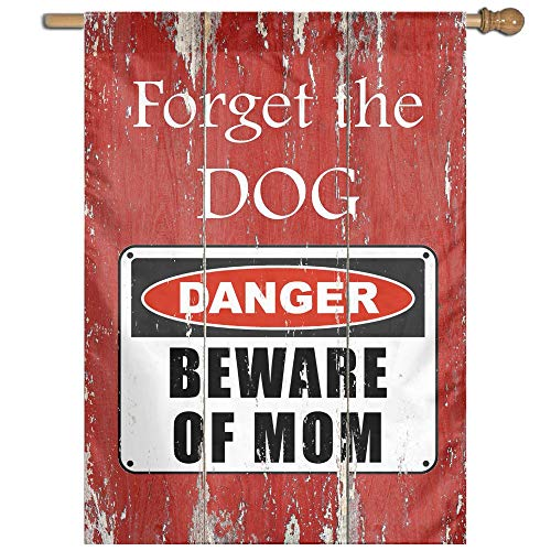 Beware of Mom Danger Warning Welcome Garden Flag Yard Flag Family Flag 27