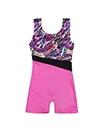 DoGeek Gymnastics Leotards Girls Leotards Ballet Shining Dance Wear one-Piece