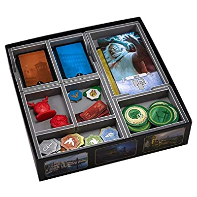 Folded Space 7 Wonders and Pantheon Expansion Board Game Box Inserts Organizer: Toys & Games
