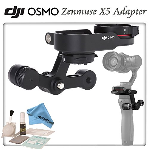 DJI Zenmuse X5 Adapter for Osmo with eDigitalUSA Brush Blower, Cleaning Kit & Microfiber Cleaning Cloth by DJI
