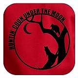 Huntin Coon Under the Moon Premium Hoodie Sweatshirt Small Red