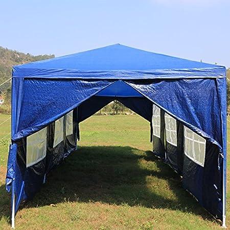 Gazebo da giardino Tenda da giardin pieghevole per Eventi LARS360 3m x 9m Blu Gazebo Padiglione da giardino Matrimonio in Giardino 8 Fianco