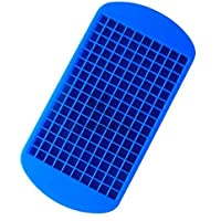 160 Ice Cubes Frozen Cube Bar Pudding Silicone Tray Mold Tool Blue