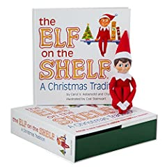 The Elf on the Shelf: A Christmas Tradition  The Elf on the Shelf: A Christmas Tradition (includes blue-eyed, light skin tone boy scout elf)  Bring the Christmas magic home to your family this year! The original Elf on the Shelf set ...