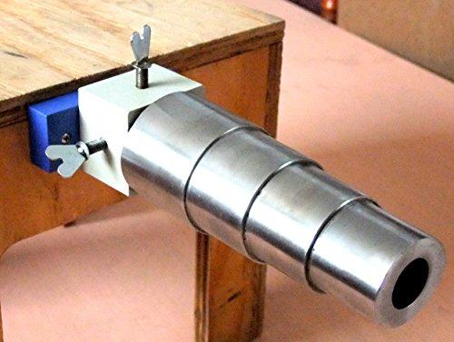 Oval Stepped Steel Bracelet Mandrel With Rotating Bench Holder