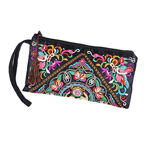 Butterfly Embroidered Wallet - 1