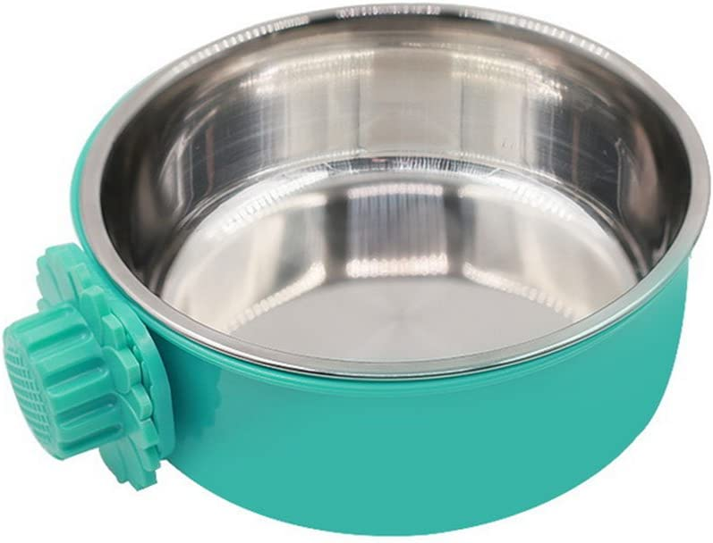 Daycount Pet Feeder Dog Bowl Stainless Steel Food Hanging Bowl Crates Cages Dog Parrot Bird Pet Drink Water Bowl Dish Accessory