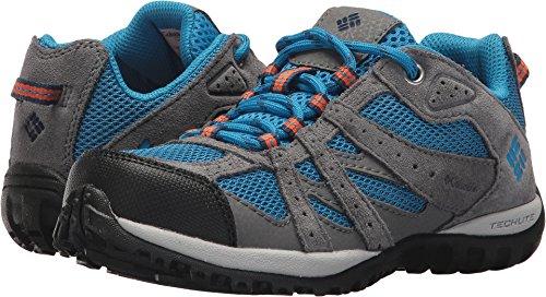 Columbia Kids Shoes - Columbia Unisex-Kids Youth Redmond Hiking Shoe, Static Blue, Heatwave, 3 Regular US Little Kid