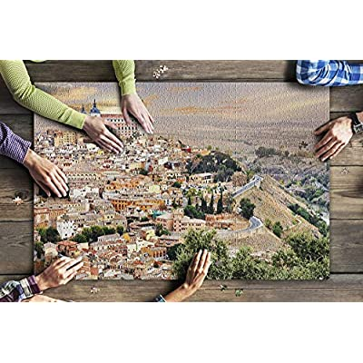 Toledo, Spain - The Old City and The Alcazar of Toledo - Photography A-94717 (Premium 1000 Piece Jigsaw Puzzle for Adults, 20x30, Made in USA!): Toys & Games