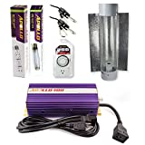 Apollo Horticulture GLK400CT24E 400 Watt Grow Light Digital Dimmable HPS MH System for Plants Cool Tube Hood Set