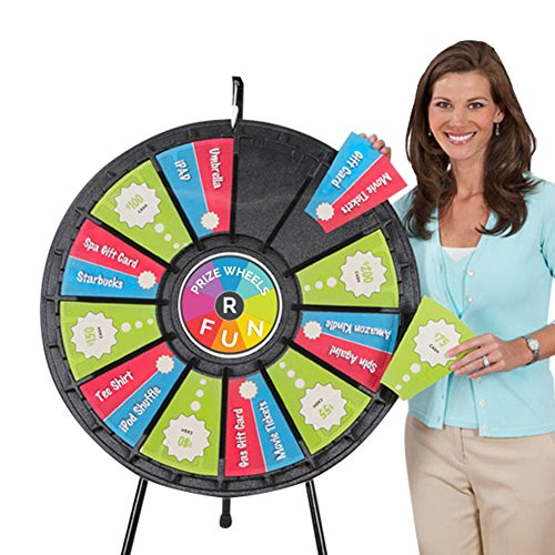 Tabletop Prize Wheel 12 to 24 Slots (31 Inch (Tabletop Prize Wheel)
