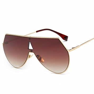 siamese farbe Linse sonnenbrille Große rahmen rahmen Männer sonnenbrille metall sonnenbrille Weiß und Weiß X1KMwF3E39
