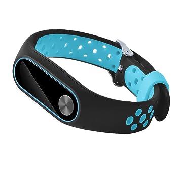 Lenfesh Correas para Relojes Deportivos Mi Band 2, Smart Wristband Correa de Pulsera de Recambio,Impermeable,Ligero y Ventilar para Xiaomi mi Band 2 (Azul): ...