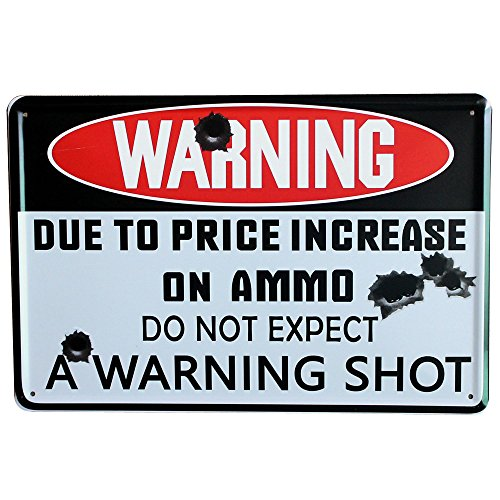 WARNING SHOT Board Metal Decor Sign Vintage Tin Letter Plate for bar house home party wall painting