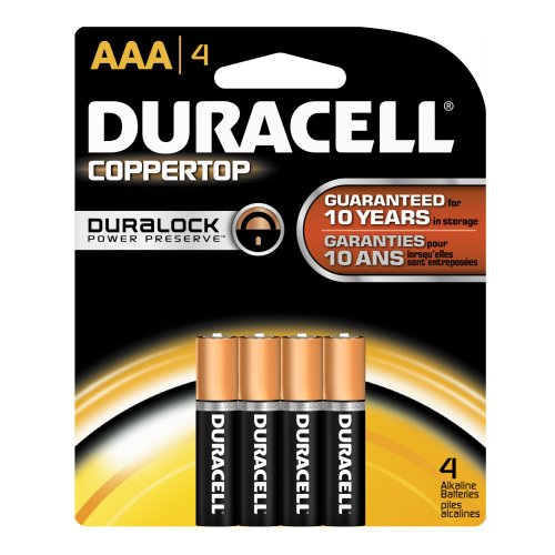 Duracell - CopperTop AAA Alkaline Batteries - Long Lasting, All-Purpose Triple A Battery for Household & Business - 4Count