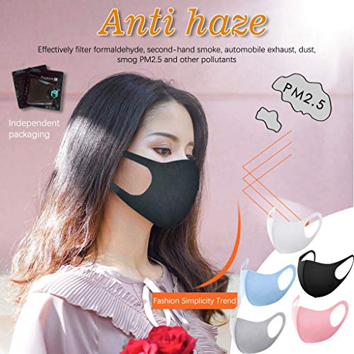 Light Weight Unisex Adult Fashion Face Covering, Reusable, Dust Proof, Washable, Cool 5 Mixed Colors Fast Shipping