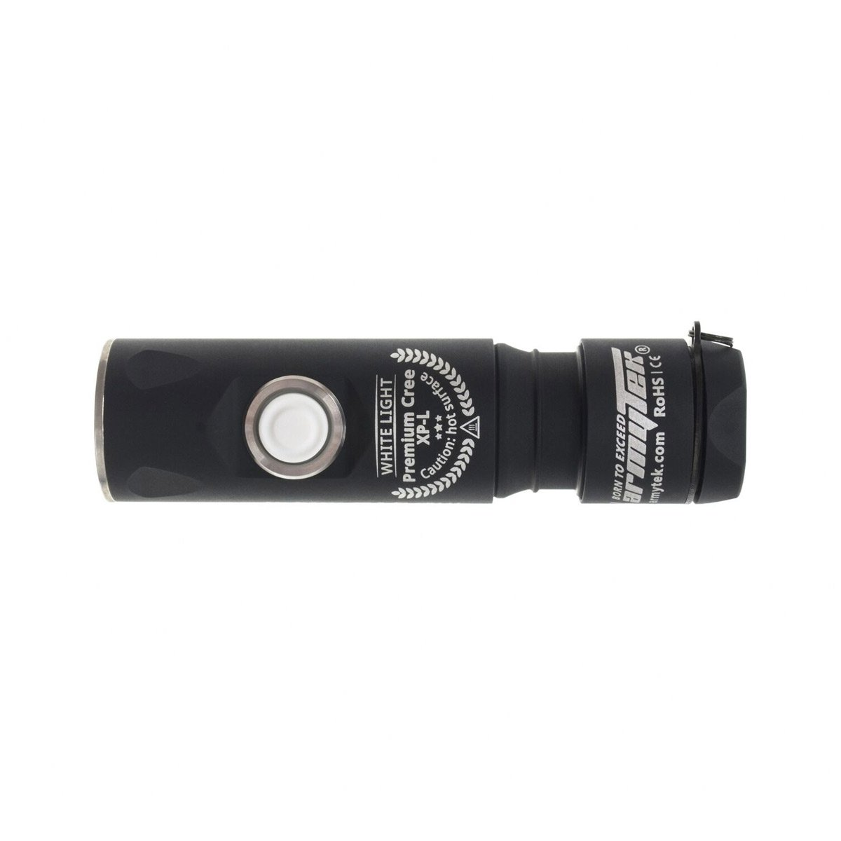 Armytek Prime C1 Pro XP-L (weiß) - Taschenlampe mit Holster, Clip & Schlüsselband - 800 LED Lumen