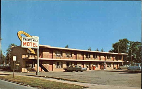 Twelve Mile Motel, 111 W. Twelve Royal Oak, Michigan Original Vintage - Twelve Michigan Oaks