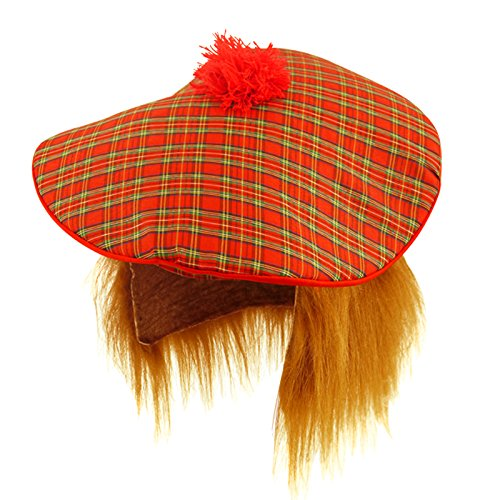 Scottish Hat - Tam O Shanter with Hair by Henbrandt