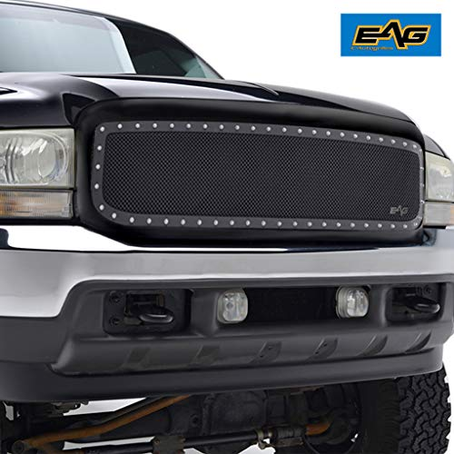 EAG Stainless Steel Wire Mesh Front Grille Fit for 99-04 Ford Super Duty F250 F350 F450 F550