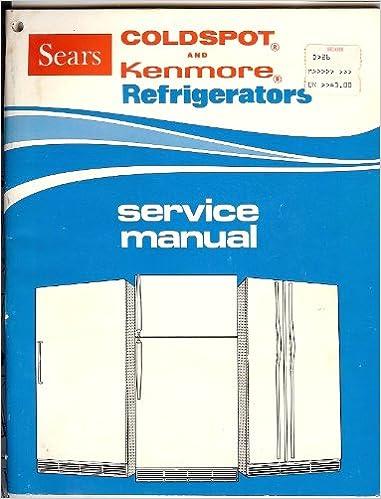 kenmore coldspot fridge manual