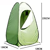 Z ZTDM Portable Pop UP Changing Tent, Dressing/Changing Tent Toilet Shower Room Shelter Waterproof Room for Outdoor Camping Fishing Bathing Toilet 47″ x 47″ x 76″ Army Green Review