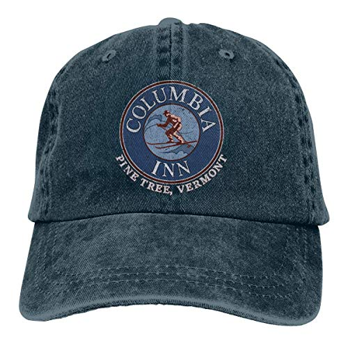 (Zmli Columbia Inn - Pine Tree Vermont Baseball Cap for Mens and Womens,Navy,One Size)