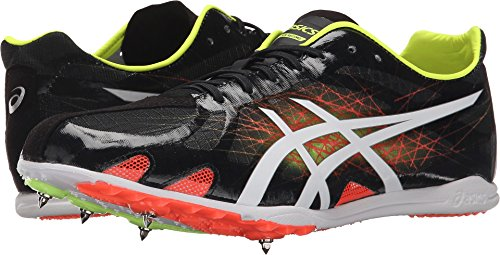 ASICS Men's Gunlap Track Shoe, Black/White, 11 M US (Track Spikes Men Shoes)