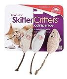SmartyKat SkitterCritters 3-Pack Catnip Mice Toy, My Pet Supplies