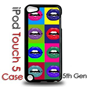 IPod 5 Touch Black Plastic Case - Pop Color Art Lips