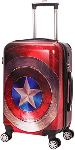 Captain America luggage Trolley Case Luggage Case Suitcase Spinner Carry-On Luggage Hardshell Exterior Sleek Boarding Bag