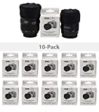 GVB GEAR Front and Rear Professional Lens Protectors for DSLR and Mirrorless Lenses Multi Pack = 10 Pack