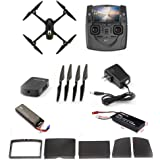 Hubsan JYZ drone H501S X4 BRUSHELESS FPV Quadcopter 1080p Camera GPS Automatic Return Altitude Hold Headless Mode Drone (black)