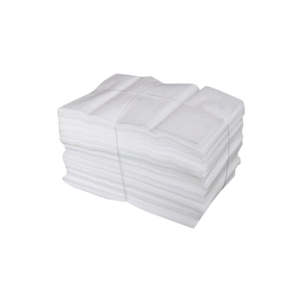 Vosarea 100PCS Foam Wraps Moving Packing Shipping Supplies Foam Bags for China Glasses Glassware Dishes Shockproof and Shatterproof Foam Pouches - White