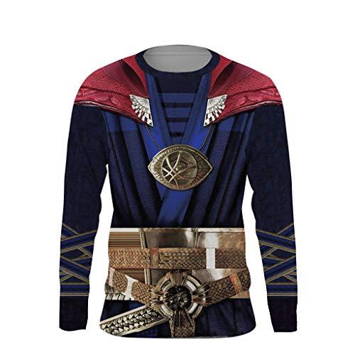 Dr Strange Costumes Pattern - Uyebros Superhero Shirt Compression Sports Shirt